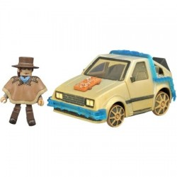 Back To The Future-Rail-Ready Time Machine Mini-Vehicle With Old West Marty McFly (MiniMates)