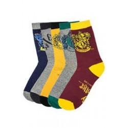 Harry Potter-Set Of 5 Socks House Crest Set (Set Di Calze)
