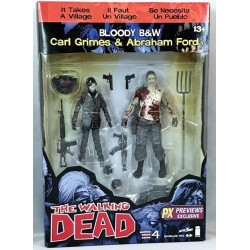 Walking Dead-Carl Grimes & Abraham Ford Bloody B & W