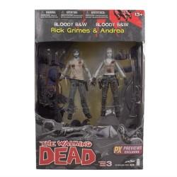 Walking Dead-Rick Grimes & Andrea (Bloody B&W)
