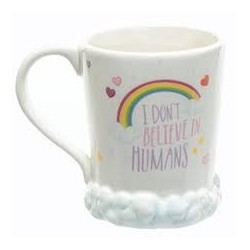 Gadget / Merchandise-Enchanted Rainbows I Don't Believe In Humans Mug (Tazza)