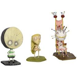Tim Burton's Tragic Toys for Girls & Boys-Tragic Toys (Pin Cushion Queen, Brie Boy, Staring Girl)