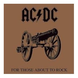 AC/DC-For Those About Rock Canvas Wall Art 40x 40