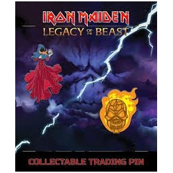 Iron Maiden-Legacy Of The Beast Set 3 Clairvoyant & Wicked Man Pin (Spille in Metallo)