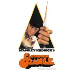 Clockwork Orange-A Clockwork Orange Knife Tin Sign (Targa In Metallo)