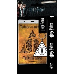 Harry Potter-Laynard With Rubber Keychain Deathly Hallows