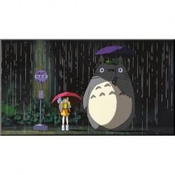 Totoro-Totoro Wooden Wall Art Bus Stop (Quadro In Legno)