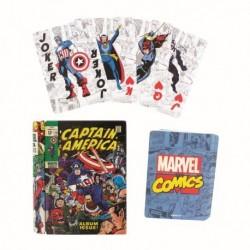 Marvel-Captain America Comic Book Playing Cards & Tin (Mazzo Di Carte)